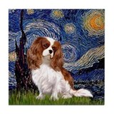 Starry Night Cavalier (2B) Tile Coaster