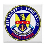 USS Emory S. Land (AS 39) Tile Coaster