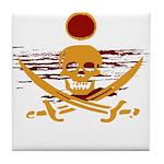 Pirate Sunset Tile Coaster