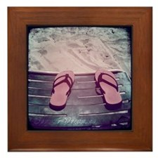 SummerDreamingBeach.png Framed Tile