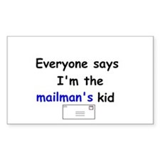 MAILMAN'S KID HUMOR Rectangle Decal