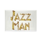 Jazz man sax saxophone Rectangle Magnet (10 pack)