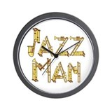 Jazz man sax saxophone Wall Clock