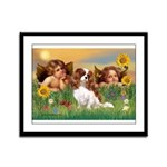 Angels & Cavalier Framed Panel Print