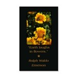 Earth Laughs in Flowers Wall Decal