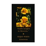 Earth Laughs in Flowers Sticker