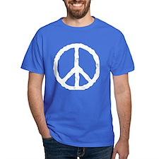 'Vintage' Peace Symbol T-Shirt