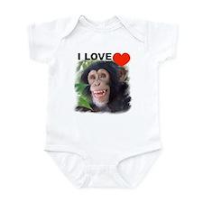 Funny Monkeys chimps Infant Bodysuit