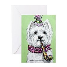 Birthday Westie Greeting Cards
