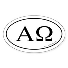 Cute Alpha omega Decal