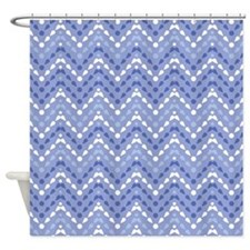 Chevron Drops Pattern Shower Curtain