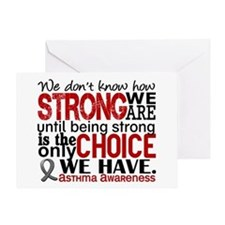 Asthma How Strong We Are Greeting Card