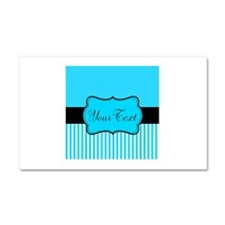 Personalizable Teal White Black Car Magnet 20 x 12