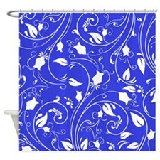 cobalt blue and white shower curtains cobalt blue and
