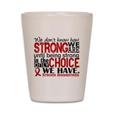 Stroke How Strong We Are Shot Glass