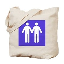 GAY BATHROOM SIGN Tote Bag