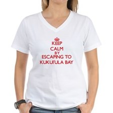 Keep calm by escaping to KukuiUla Bay Hawaii T-Shi