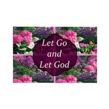 LET GO LET GOD Rectangle Magnet