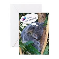 Koala Christmas Greeting Cards