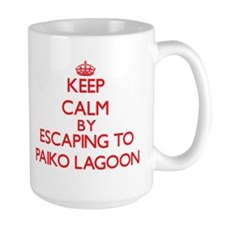 Keep calm by escaping to Paiko Lagoon Hawaii Mugs