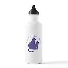 I Love My GrandCats 111 Water Bottle