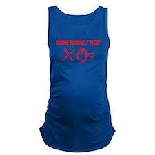 Custom Red XO Heart Doodle Maternity Tank Top