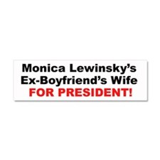 Cute Funny bill clinton Car Magnet 10 x 3