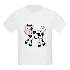 Black and White Dairy Cute Cow T-Shirt