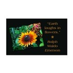 Earth Laughs in Flowers Rectangle Car Magnet