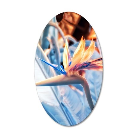 Strelitzia in Infrared 20x12 Oval Wall Decal