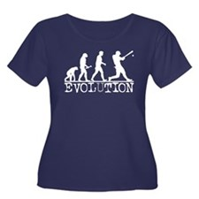 EVOLUTION Baseball Women's Plus Size Scoop Neck Da