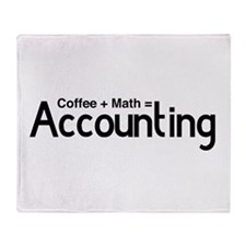 coffee plus math equals accounting Throw Blanket