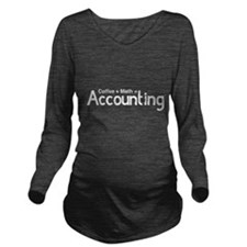 coffee plus math equals accounting Long Sleeve Mat