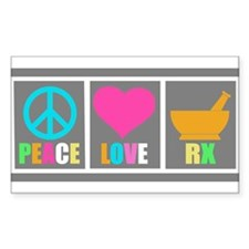 Peace Love Pharmacy Decal