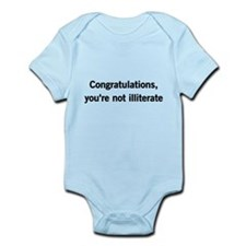 Congratulations, youre not illiterate Body Suit