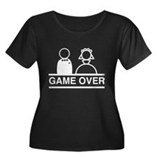 Marriage = Game Over Plus Size T-Shirt