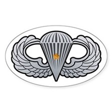 Airborne Wings with Combat St Oval Decal