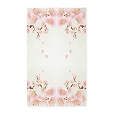 Cherry Blossom In Pink And White 3'x5' Area Rug