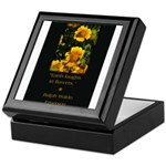 Earth Laughs in Flowers Keepsake Box