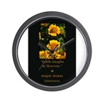 Earth Laughs in Flowers Wall Clock