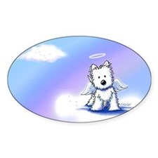 Westie Angel Decal