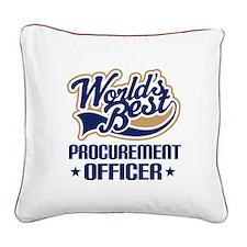 Procurement officer Square Canvas Pillow