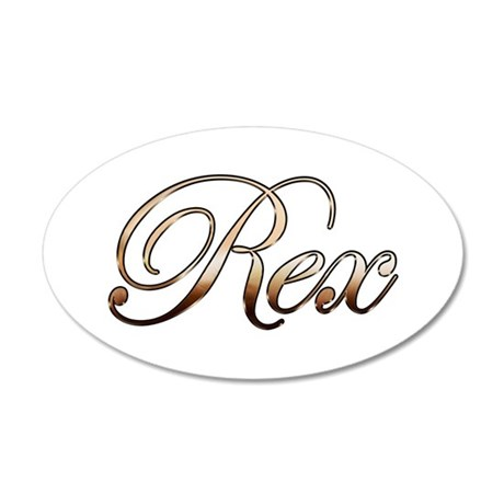 Rex 20x12 Oval Wall Decal