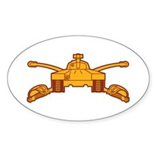 Armor Branch Insignia Oval Decal