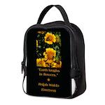 Earth Laughs in Flowers Neoprene Lunch Bag