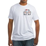 I Love the Bach Double White Fitted T-Shirt