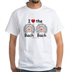 I Love the Bach Double White T-Shirt
