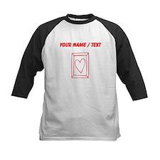 Custom Red Heart Frame Doodle Baseball Jersey