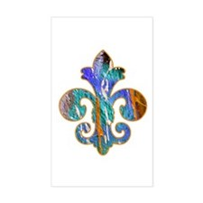 Fleur de lis Faux Paint 7 Rectangle Decal