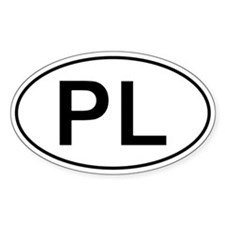Polish Oval Car Sticker - Pl For Poland